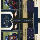 2004 - Tatum Bell - Darius Watts - Donruss - Playoff - Honors - Rookie Tandems - Jersey Card #RT-6