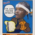 2005 - Jermaine O'Neal - Topps - Bazooka - Adventures - Game Jersey - Card # ADV-JO
