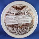 """1983 - Royal China Co. - Wild Western - Barbecued Ribs Recipe - 11 1/2"""" Collectors Plate"""