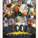 2000 - Peyton Manning - Topps - Record Numbers - Card #RN9