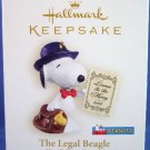 2006 - Hallmark - Keepsake Ornament - Peanuts - The Legal Beagle - Spotlight On Snoopy