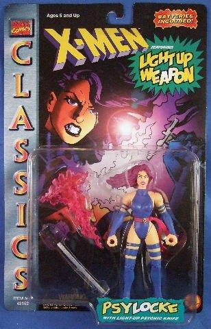 1996 - Toy Biz -  Marvel Comics - X-Men - Psylocke - With Light-Up Psychic Knife