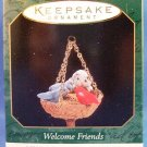 1997 - Hallmark - Keepsake Ornament - Welcome Friends -  Miniature - Christmas Ornament