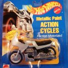 1995 - Mattel - Hot Wheels - Action Cycles - Silver Metallic Paint - Die-cast Metal