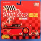 1997 - Bill Elliott - NASCAR - Racing Champions - Racing Team Transporter - Diecast Metal Car