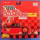 1997 - Bill Elliott - NASCAR - Racing Champions - Racing Team Transporter - Diecast Metal Car