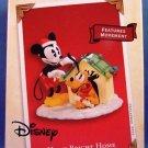1973-2003 - Hallmark - Disney - Keepsake Ornament - Home Bright Home - Mickey and Pluto - Ornament