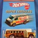 2006 - Mattel - Hot Wheels - Super Chromes - Gold S Cool Bus  - Die-Cast Metal