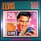 1993  - Milton Bradley - Elvis - Limited Edition - 550 Piece - Stamp Jigzaw Puzzle