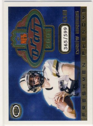2001 - Drew Brees - Pacific - Dynagon - Freshmen Phenoms - Rookie Card #2