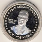 1990-91 - David Robinson - San Antonio Spurs - NBA Rookie Of The Year - Silver Coin