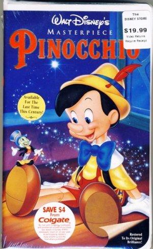 1993 - The Walt Disney Company - Masterpiece - Pinocchio ...