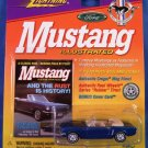 1999 - Johnny Lightning - Mustang Illustrated - 1965 Blue Mustang Convertible - Die-cast Metal Cars