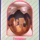 1994 - Enesco - Precious Moments - Decoupage - Holiday Ornament