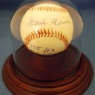 Hank Aaron - Preferred Customer Service - Autographed - Career Stat - Baseball