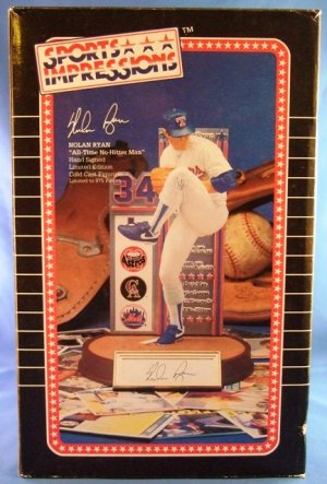 1995 - Nolan Ryan - Sports Impressions - Autographed - All Time No Hitter Man - Figurine