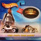 2003 - Mattel - Hot Wheels - Lara Croft - Tomb Raiders- Diecast 2 Car Set