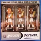 2003 - Forever Collectibles - Spurs 2003 NBA Champions - Magnetic Mini Bobs - Set