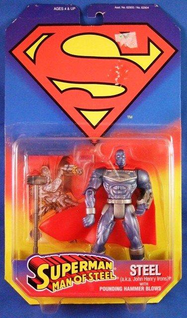 1995 - Kenner - DC Comics - Superman - Man of Steel - Steel - Action Figures