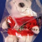 1997 - Collectible Coca-Cola Brand - Bean Bag Plush - Bear With Sweater - in Baseball Cap