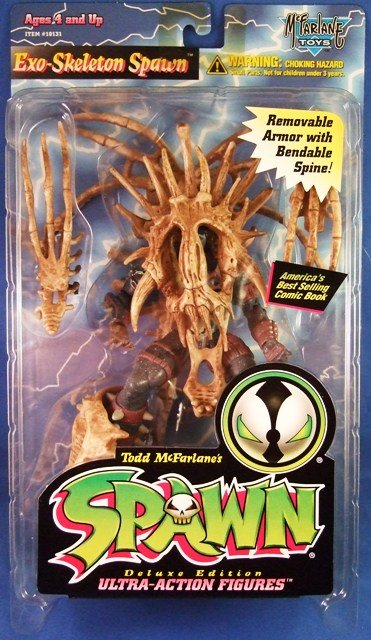 1996 - McFarlane Toys - Spawn -  Exo-Skeleton Spawn - Series 4 - Action Figure