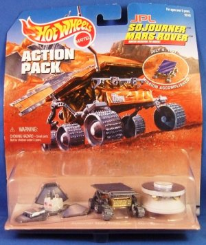 1997 - Mattel - Hot Wheels - Action Pack - JPL Sojourner Mars Rover - Diecast Metal