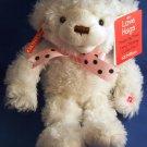 Gund Fun - Love Hugs - Singing - White and Pink - Bear