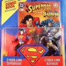 1995 Superman Man of Steel Kenner DC Comics Cyber-Link Superman vs. Cyber-Link Batman