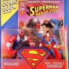 1995 Hasbro Kenner DC Comics  Superman Man of Steel Massacre vs Full Assault Superman