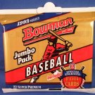 1993 Bowman Baseball Jumbo Pack 20 Lot Box