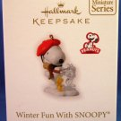 2010 - Hallmark - Keepsake Ornament - Peanuts - Winter Fun WITH SNOOPY