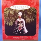 1997 - Hallmark - Keepsake - Swinging In The Snow - Christmas Ornament