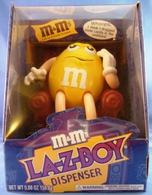 M&M's Brand - LA-Z-BOY - Yellow - Chocolate Candy Dispenser