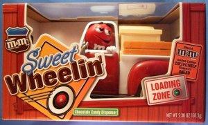 M&M's Brand - Sweet Wheelin' - Red Truck - Chocolate Candy Dispenser