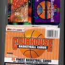 1993/94 - ClubHouse - Topps Finest - Premium - NBA Basketball - Trading Cards