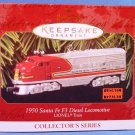 1997 - Hallmark - Keepsake Ornament - Lionel Electric Trains - 1950 Santa Fe F3 Diesel Locomotive