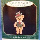 1997 - Hallmark - Keepsake Ornament - Teddy Bear Style - Miniature - Christmas Ornament