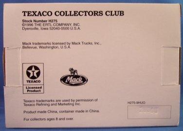 Texaco - 1926 Mack Tanker - Collectors Club - Series - Die Cast Metal