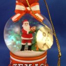 2010 - The Danbury Mint - Texas Longhorns Santa Snow Globe - Christmas Ornament