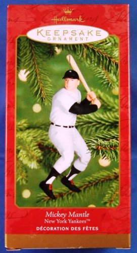 2001 - Hallmark - Keepsake Ornament - New York Yankees - Mickey Mantle - Ornament
