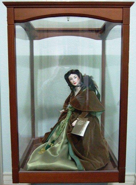 franklin mint heirloom doll scarlett ohara green