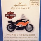 2012 - 1972 XRTT 750 Road Racer - Miniature Harley Davidson Motorcycles - Christmas Ornament