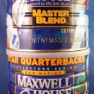 Maxwell House - Star Quarterbacks - Collector Series - Coffee Cans - Set of 2