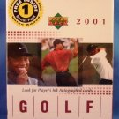 2001 - Upper Deck - Golf - Premiere Edition - Sealed Retail Box