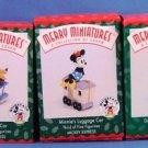 1998 - Hallmark - Disney - Keepsake Ornament - Mickey's Locomotive - Set of 5