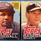 2009 TOPPS SERIES 1 & 2 BOX Babe Ruth & Lou Gehrig