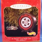 1999 - Hallmark - Keepsake Ornament - Hot Wheels - Jet Threat Car With Case - Christmas Ornament
