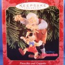 1999 - Hallmark - Disney - Keepsake Ornament - Pinocchio and Geppetto