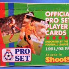 1991/92 - Part 1 - Official Pro Set - Soccer - Player Cards - Factory Sealed Box