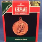 1992 - Hallmark - Keepsake Ornament - Miniature - Minted For Santa Coin - Christmas Ornament